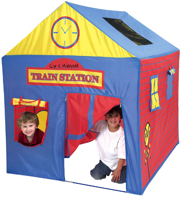 train station play house tent. Black Bedroom Furniture Sets. Home Design Ideas