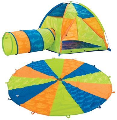 Click for Larger View  sc 1 st  Play Tents and Tunnels Kids Bed Tents Play Houses Play ... & Now u0026 Then Play Tent Tunnel and 10ft Parachute | OutdoorFuntime.net