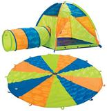pacific play tents Now & Then Play Tent, Tunnel and 10ft Parachute
